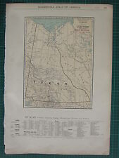 1922 LARGE AMERICA MAP ~ YUKON RAILROAD CREEKS ISLANDS LAKES RIVERS RAND MCNALLY