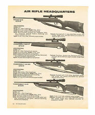 1981 AD AIR RIFLES/PISTOLS, WISCHO, FEINWERKBAU, WEIHRAUCH, SCOPE, TARGET, MATCH