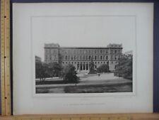 Rare Antique Orig VTG K K Akademie Der Bildenden Kunste Vienna Engraved Print