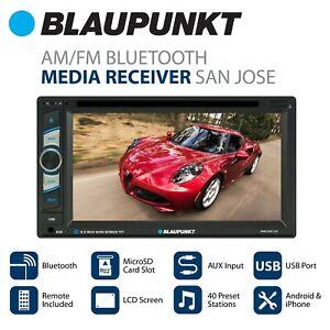 "Blaupunkt 6.2"" Touchscreen DVD Receiver with Bluetooth (SanJose120) NEW"