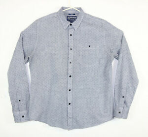 American Rag Mens Large Blue Dress Shirt Dobby Button Down Long Sleeve Cotton