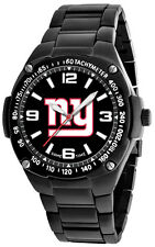 NY New York Giants Watch Mens Black SS Game Time Gladiator Wristwatch