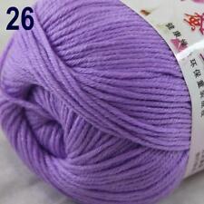 Sale New 1Ball x 50g Cashmere Silk Wool Hand Knit Wrap Shawls Crochet Yarn 26