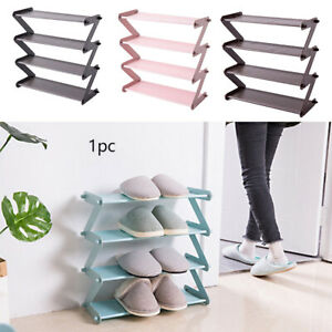 Foldable Shoe Rack Non Woven Save Space Assembled Multi Layer Holder Dormitory