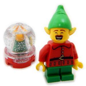 NEW LEGO CHRISTMAS ELF w/Snow Globe minifigure santa claus minifig snowglobe