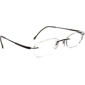 Silhouette Eyeglasses 7719 40 6054 Titan Brown Rimless Frame Austria 50[]19 135