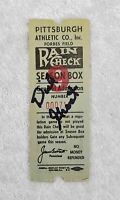 Dick Groat Signed 1950's Forbes Field Pittsburgh Pirates Ticket Stub