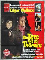 Filmplakat Edgar Wallace: Die Tote aus der Themse (1971) A1 gefaltet