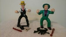 Vintage Dick Tracy and Frank Foley 5 inch action figures with weapons Lot