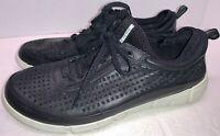 Ecco Shoes Men's Black Leather Lace-up Danish Design Sneakers EU 42 (US 8 - 8.5)