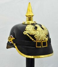 Leather German Pickelhaube Helmet Prussian Helmet  WW1 helmet Vintage Handmade