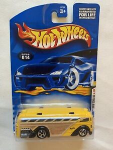 HOT WHEELS 2001 1ST EDITIONS SURFIN SCHOOL BUS #014 SEALED