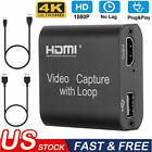 4K+USB2.0+HDMI+Video+Capture+Card+1080P+Game+Record+Live+Streaming+with+Loop+Out