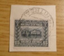 Eritrea 1910 SG 40 on piece Catalogue value £65 Ref UK2