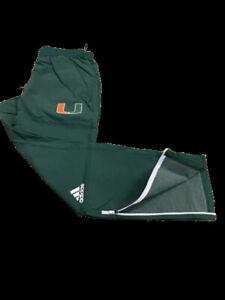 Adidas NCAA Uni. of Miami Woven Pants Green/Orange DH6618