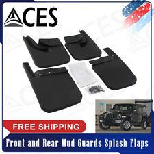 Front and Rear Mud Guards Splash Flaps Kit Fit For 2018 2019 Jeep Wrangler JL