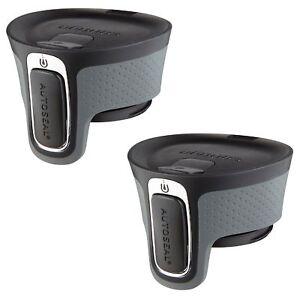 Contigo AUTOSEAL West Loop Easy-Clean Travel Mug Replacement Lid Black (2-Pack)