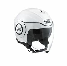 CASCO DEMI-JET AGV FLUID MONO - PEARL WHITE - BIANCO PERLA TAGLIA XL