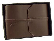 Leather Photo Album Small Scrapbook Rustic Vintage Antique Retro 4x6 5x7 Genuine