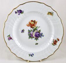 """ROYAL COPENHAGEN FULL SAXON FLOWER 1221 25.5CM 10"""" DINNER PLATE 1621 1ST"""