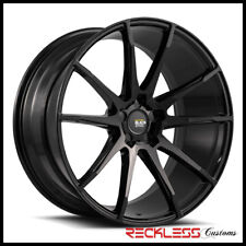 "SAVINI 19"" BM12 GLOSS BLACK CONCAVE WHEELS RIMS FITS CADILLAC XTS"