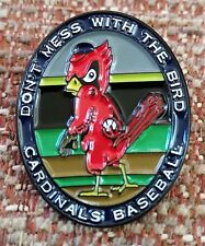 ST. LOUIS CARDINALS Don't Mess With The BIRD LAPEL PIN