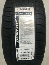 1 New 215 50 17 Dunlop Signature II Tire