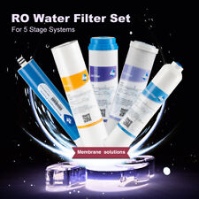 5Pc 10 Inch PP+GAC+CTO Home Pure Water Filter Cartridge Cartoon T33 W/50GPD RO