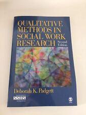 Qualitative Methods in Social Work Research by Deborah K. Padgett (Paperback,...