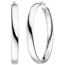 NEU 50 mm große Creolen echt Silber 925er Sterling Ohrringe rund XL 5 mm breit