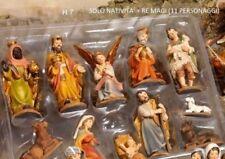 NATIVITà PRESEPE 11 STATUINE CON RE MAGI RESINA 7 CM NATALE ADDOBBO DECORAZIONI
