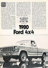 1980 Ford F-150 Truck Road Test Original Car Review Report Print Article J808