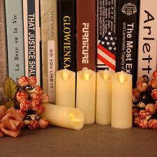 6er Kerze Set LED Kunststoff Kerzen Teelichter  Teelicht flammenlose Flamme+AKKU