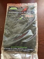 NEW Jumbo Standard Stretchable Fabric Book Cover Sox Textbook School Black