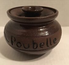 Table Trash Pot Groundhog Blues Pottery Signed Poubelle De Belle Trash Pottery