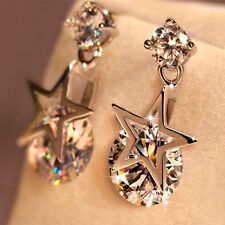 Jewelry Fashion silver Plated zircon Star Shaped earrings gift for women
