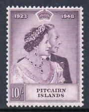 Pitcairn Îles 1949 Royal Argenté Mariage 10 Sg 12 Excellent État