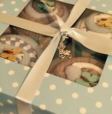 Nappy Cake Baby Sock Cupcakes With Bodysuits Baby Shower Gift Newborn Boy