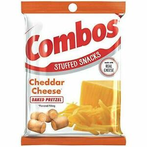 COMBOS Cheddar Cheese Baked Pretzel Stuffed Snacks, 6.3 Oz (1-Large Bag)