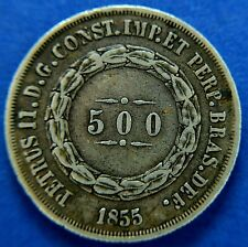 More details for brazil: peter ii 1855, 500 reis.                                         ch9-366