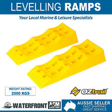 OZtrail Traction Pro Level Ramp Rv Caravan Trailer Wheel Levelling Ramps Steps