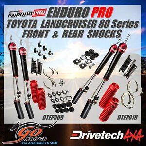 Drivetech 4x4 Enduro Pro Shocks F&R set DTEP009 and DTEP019 fits 80 ser Landcrui