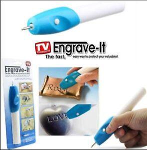 Idea Engraver HandHeld Electric Engraving Pen - steel,wood,electronics,valuables