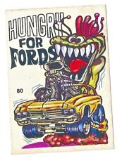 1970S SCANLENS ODDEST ODD RODS STICKER #80 HUNGRY FOR FORDS PLYMOUTH DONRUSS VGC