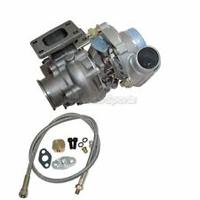 T3 T4 TURBO Charger W/ WASTEGATE 8Psi 350+ HP For BMW E30 E36 +Oil Feed Line Kit