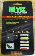 """Hi Viz DOVM In-Line System Rifle Muzzleloader Front Sight Set & Lite Pipes .315"""""""