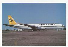 Golden Horn Boeing 707 Aviation Postcard, A688