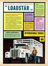 Old Print. 1962 International Loadstar Stake Truck Ad