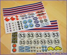 Herbie VW Beetle Lot of Decals the Love Bug Stickers Kit New Look 1/10 Scale