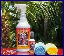 CAPTAIN RICHARDS BEST 32OZ. THE BOM MOTORCYCLE CAR ALL IN ONE CLEANER W/CLOTHS